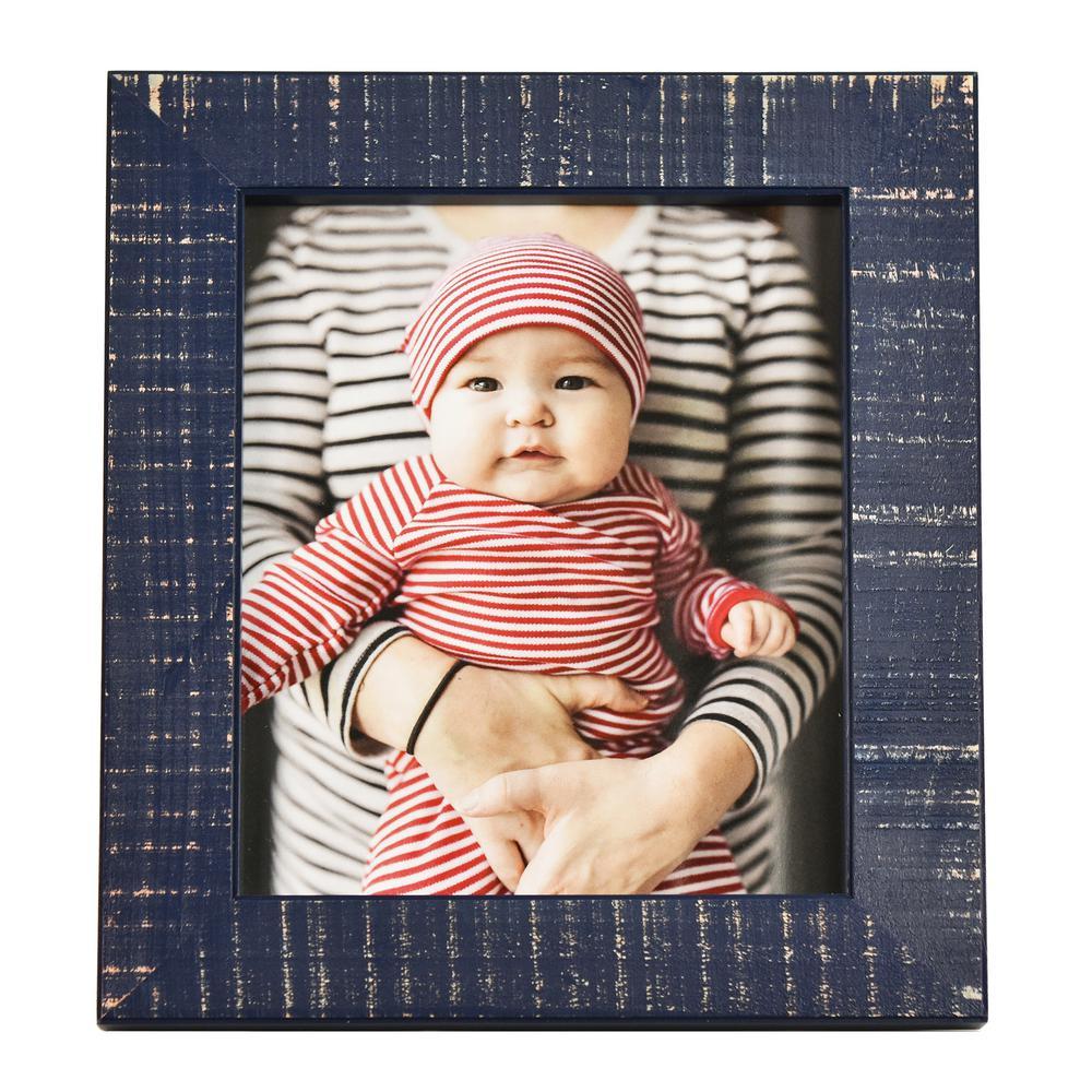 Dennis Dark Blue 8 in. x 10 in. Picture Frame