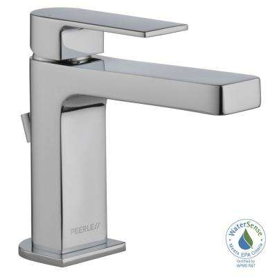 Xander 4 in. Centerset Single-Handle Bathroom Faucet with Metal Pop-Up Assembly in Chrome