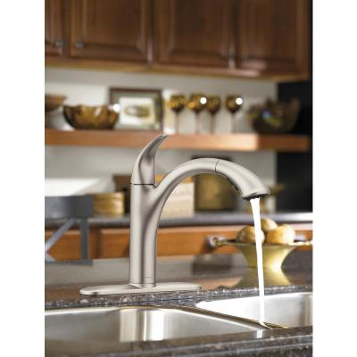 Camerist Single-Handle Pull-Out Sprayer Kitchen Faucet in Spot Resist Stainless