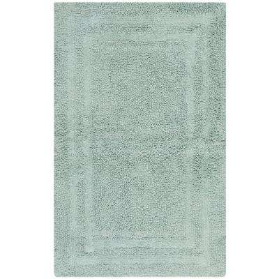 Plush Master 21 in. x 34 in. Washable Bath Mat in Watery