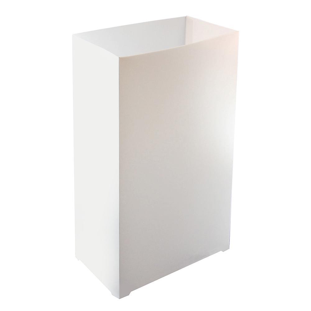 Plastic Luminaria Lanterns in White (Set of 12)