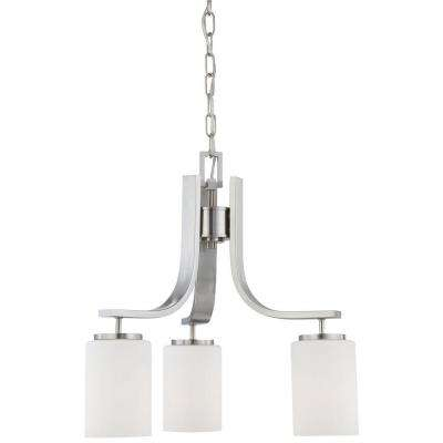 Pendenza 3-Light Brushed Nickel Chandelier