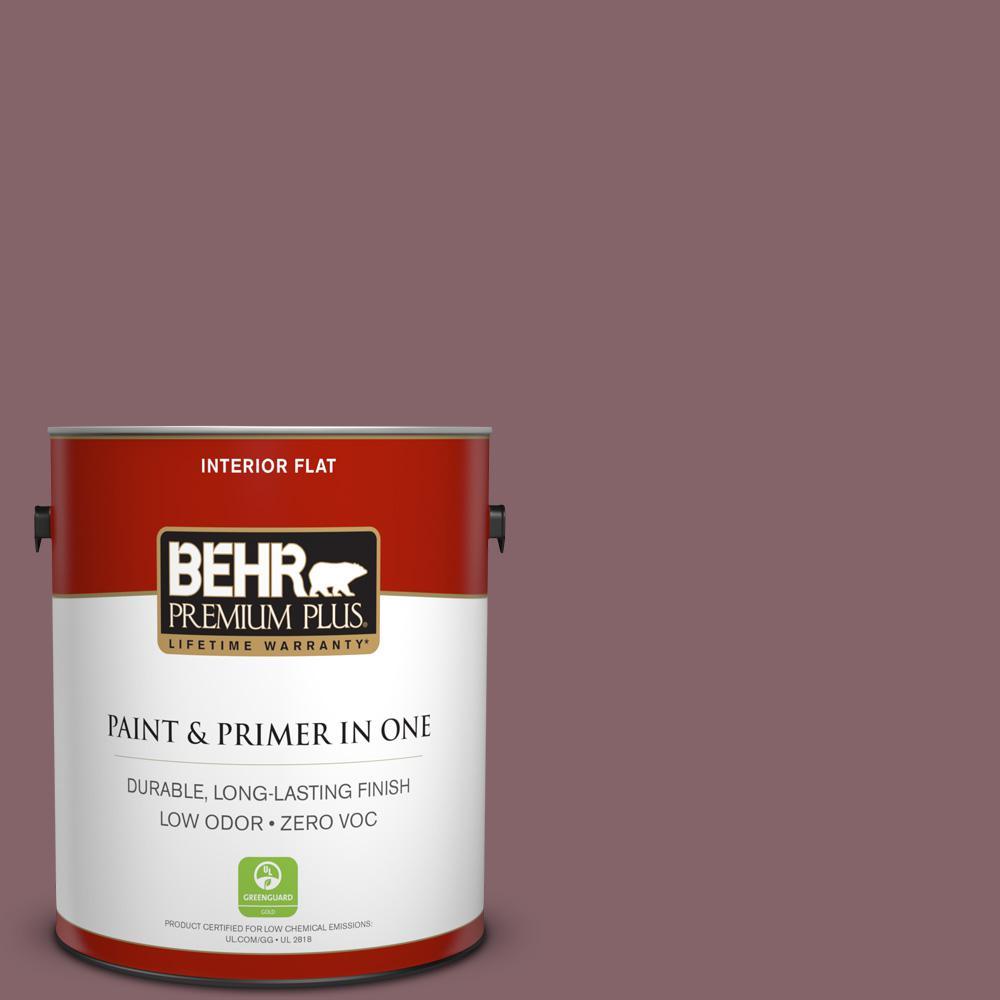 BEHR Premium Plus 1-gal. #130F-6 Brazil Nut Zero VOC Flat Interior Paint