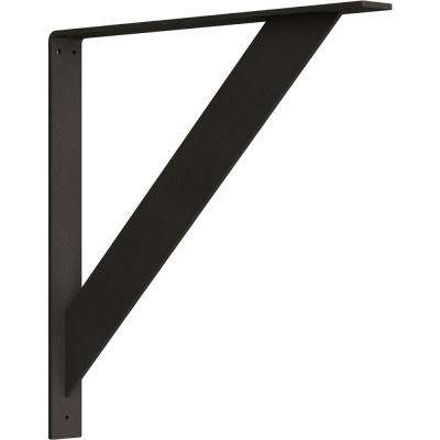 2 in. x 20 in. x 20 in. Steel Hammered Dark Bronze Traditional Bracket
