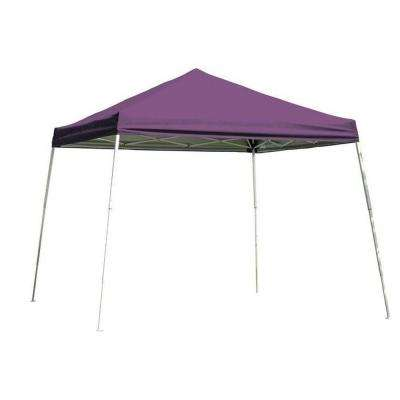 10 ft. x 10 ft. Slant Pop-Up Canopy in Purple Cover with Black Bag