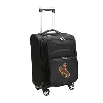 Denco NCAA Wyoming Black 21 in. Carry-On Spinner Softside Suitcase