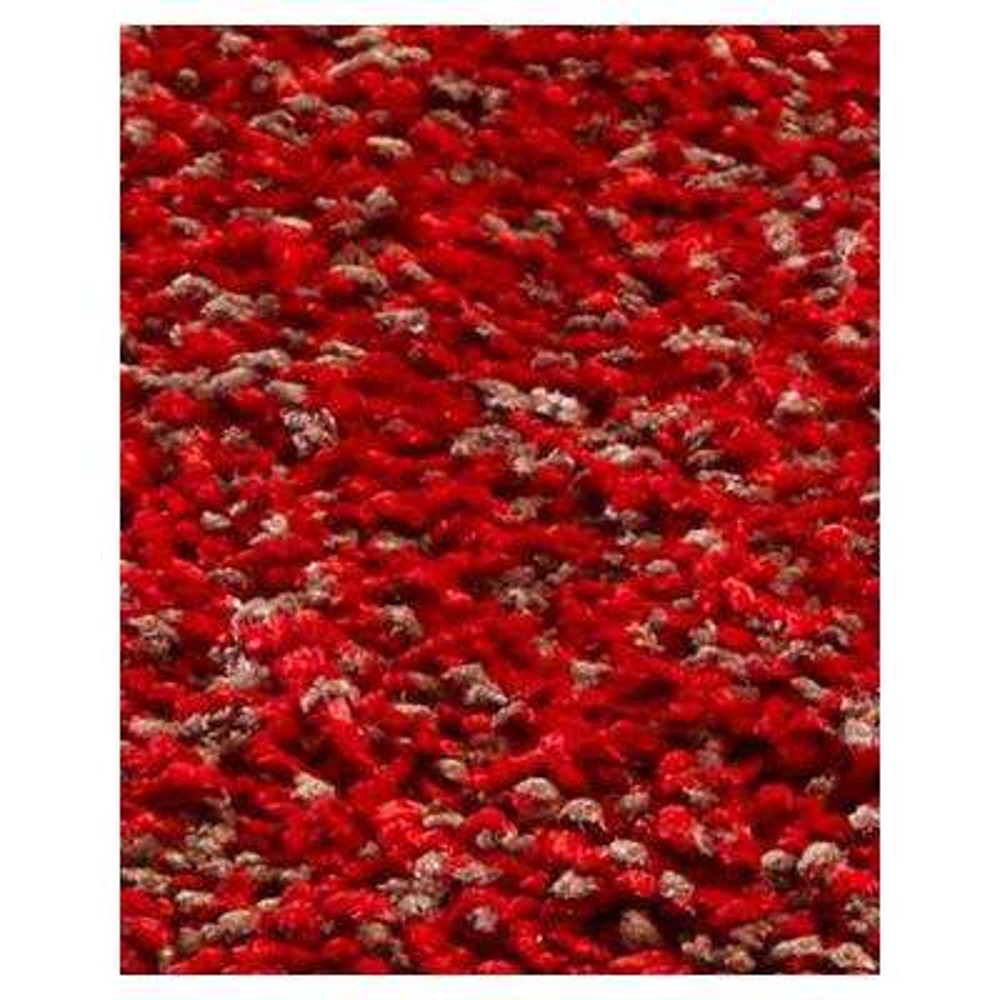 Cushy Shag Red/Beige 2 ft. 3 in. x 3 ft. 9 in. Area Rug