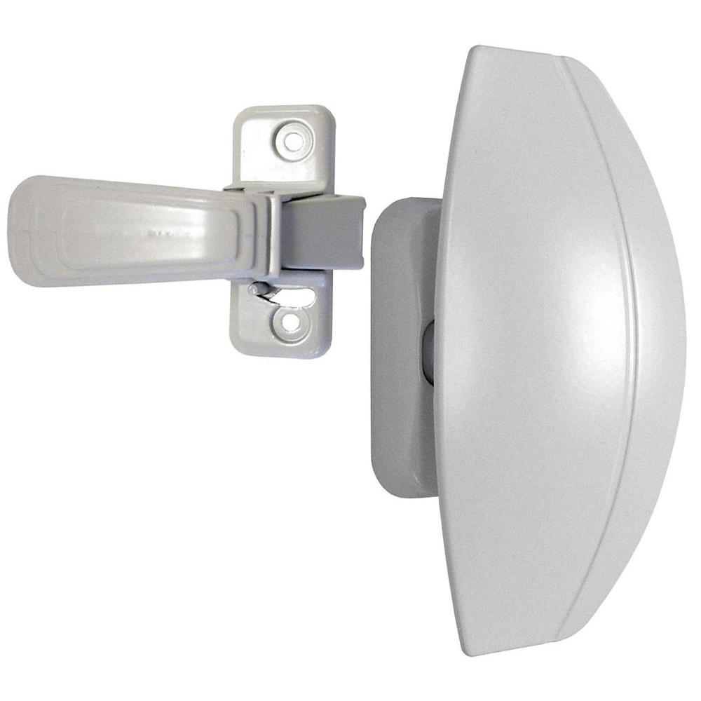 IDEAL Security Painted White Storm and Screen Door Pull Handle