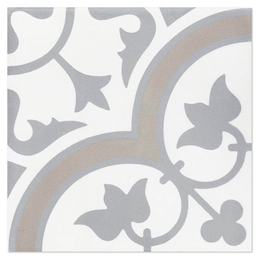 Villa Lagoon Tile Tulips B Vintage 8 in. x 8 in. Cement Handmade Floor and Wall Tile (Box of 16/ 6.96 sq. ft.)