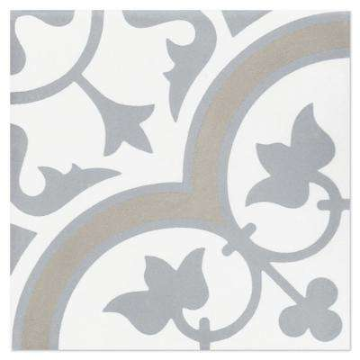Tulips B Vintage (PS) 7-7/8 in. x 7-7/8 in. Cement Handmade Floor and Wall Tile