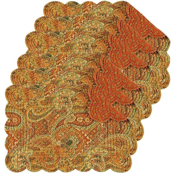 C F Home Tangiers Orange Placemat Set