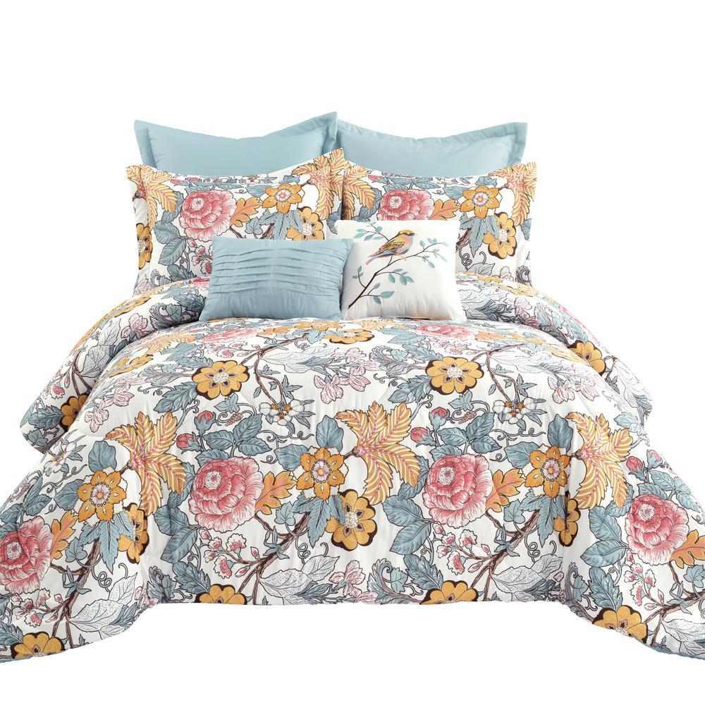 Sydney 7-Piece Blue/Yellow King Comforter Set