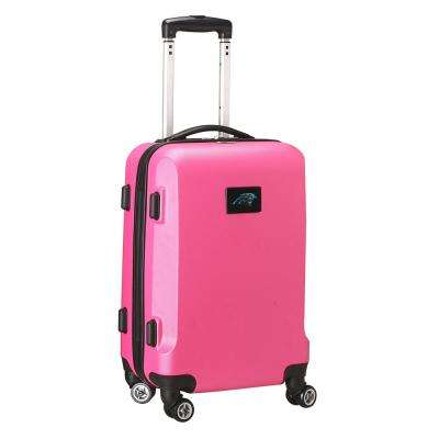 NFL Carolina Panthers 21 in. Pink Carry-On Hardcase Spinner Suitcase