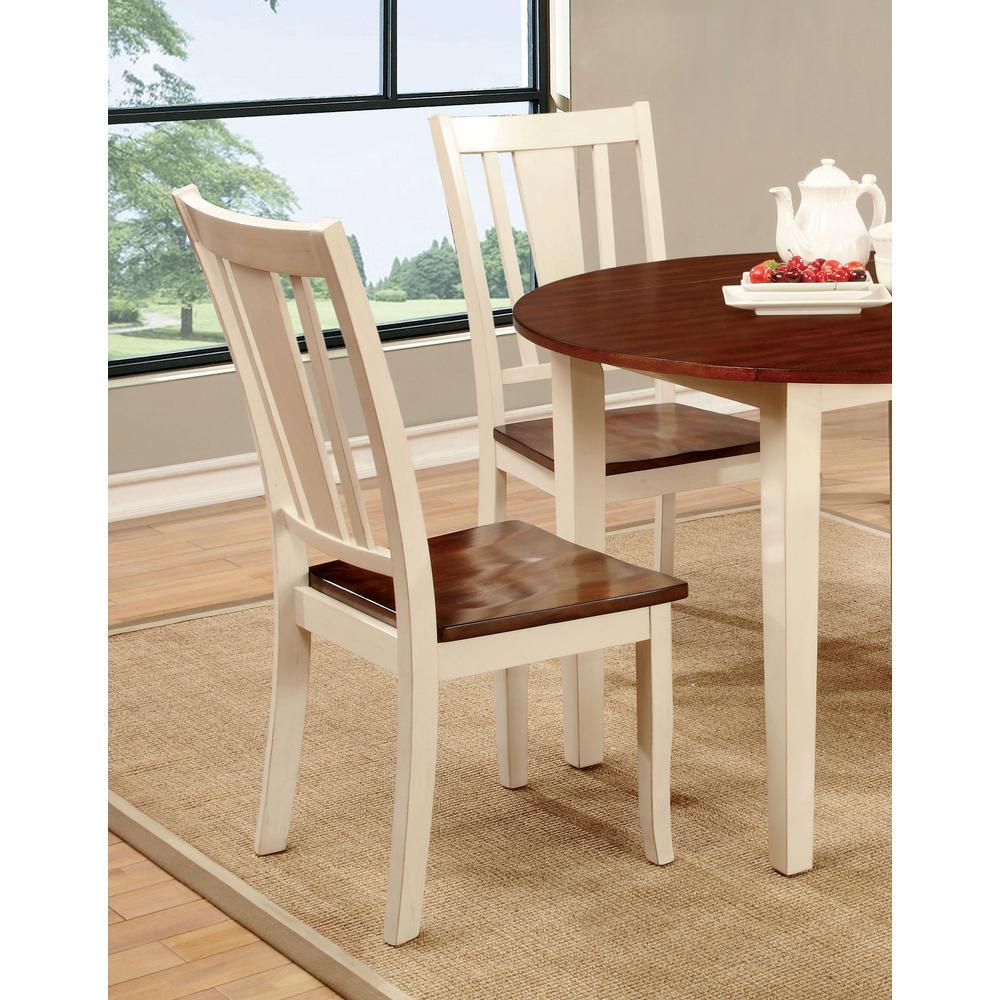 Furniture of America Lanius Antique White Solid Wood Slat ...