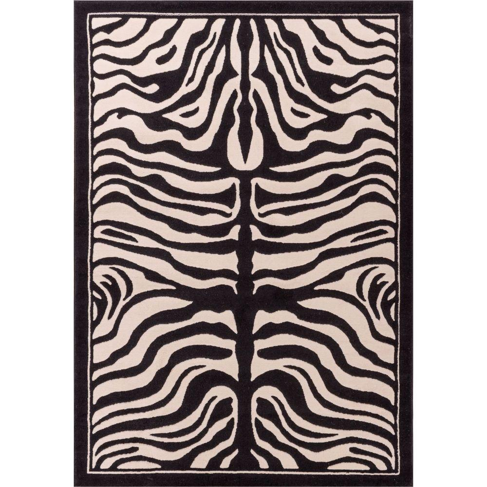 Well Woven Dulcet Zebra Ivory 5 Ft. X 7 Ft. 2 In. Animal