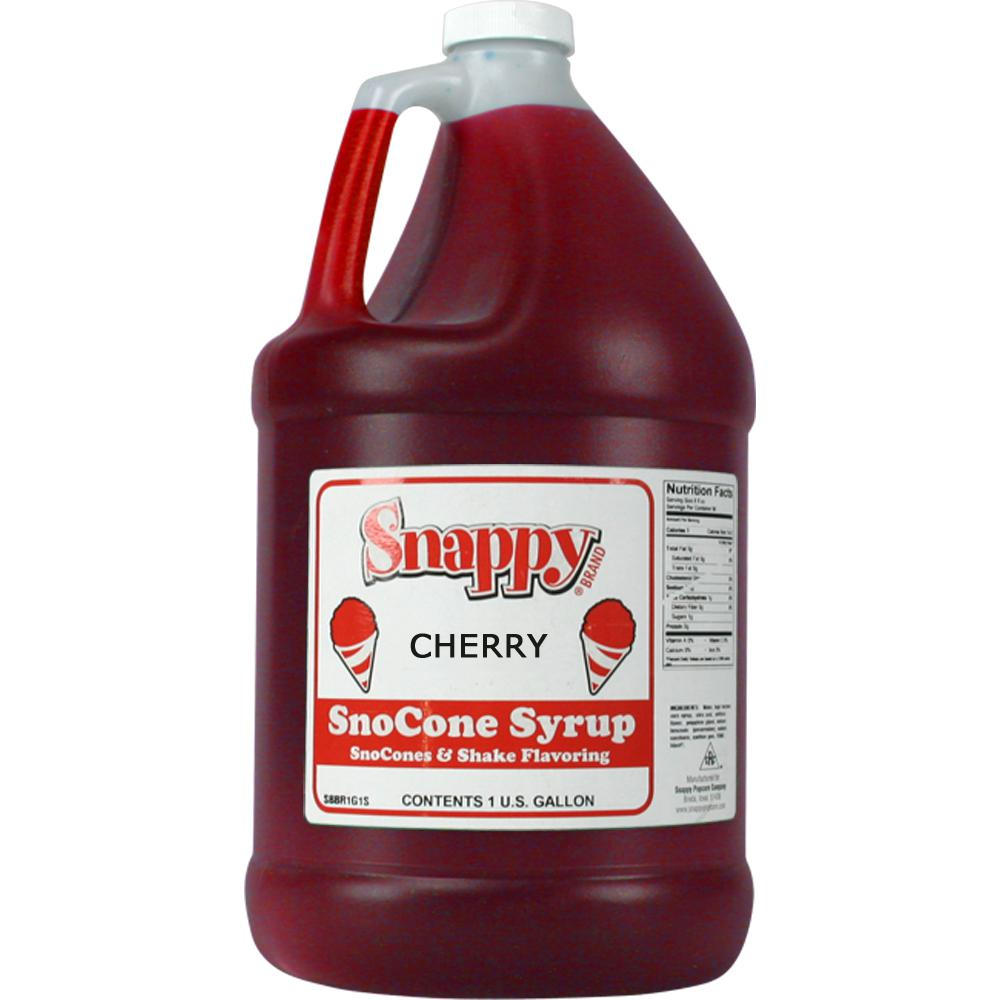 Snappy Snow Cone Syrup. 1 Gal. Cherry