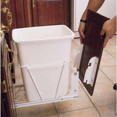 8 in. H x 1.5 in. W x 2.13 in. D White Metal Door Mounting Kit for Wire RV Waste Container Series