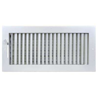14 in. x 6 in. Adjustable, Single Deflection, 1 Way Air Supply Register for Duct Opening of 14 in. W x 6 in. H