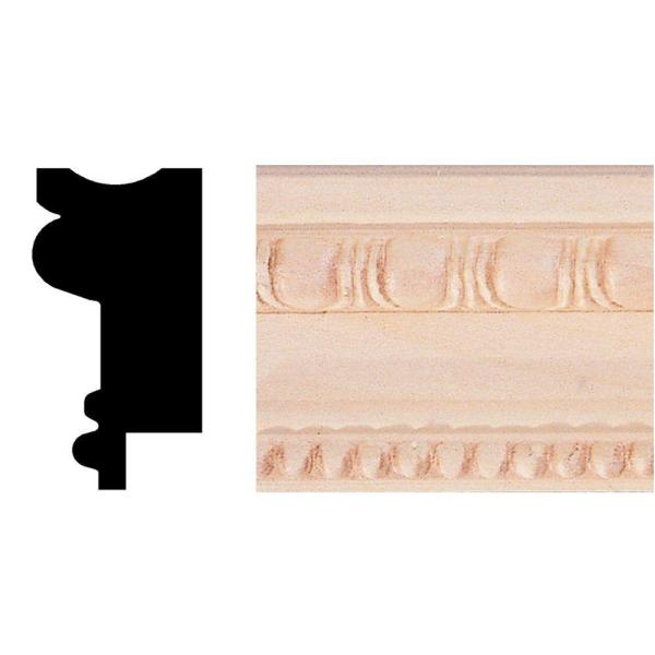 3/4 in. x 1-1/2 in. x 8 ft. Basswood Chair Rail/Wainscot Cap/Picture Frame Moulding