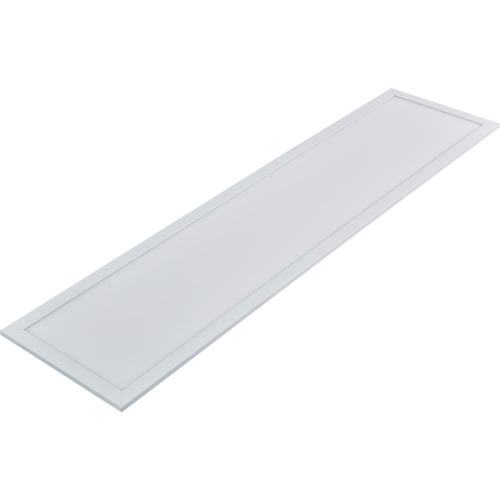 Lithonia Lighting 4 Ft 40 Watt White Integrated Led: INTI 1 Ft. X 4 Ft. White Dimmable Edge-Lit 40-Watt 4000K