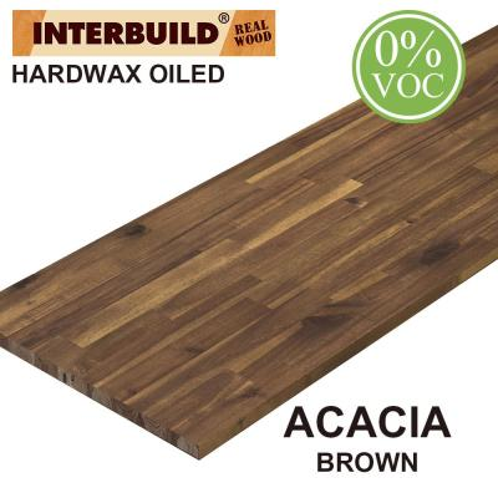 Acacia 8 ft. L x 25 in. D x 1 in. T Butcher Block Countertop in Brown Oil Stain