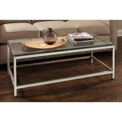 Soho Stainless Glass Top Coffee Table