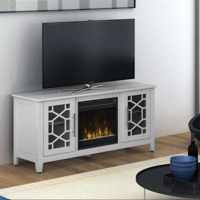 Clarion 54 in. Media Console Electric Fireplace in White