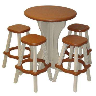 Redwood 5-Piece Patio Bistro Set