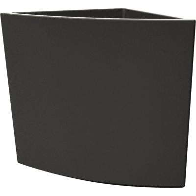 Toscana 29 in. Smoke Plastic Triangle Patio Planter