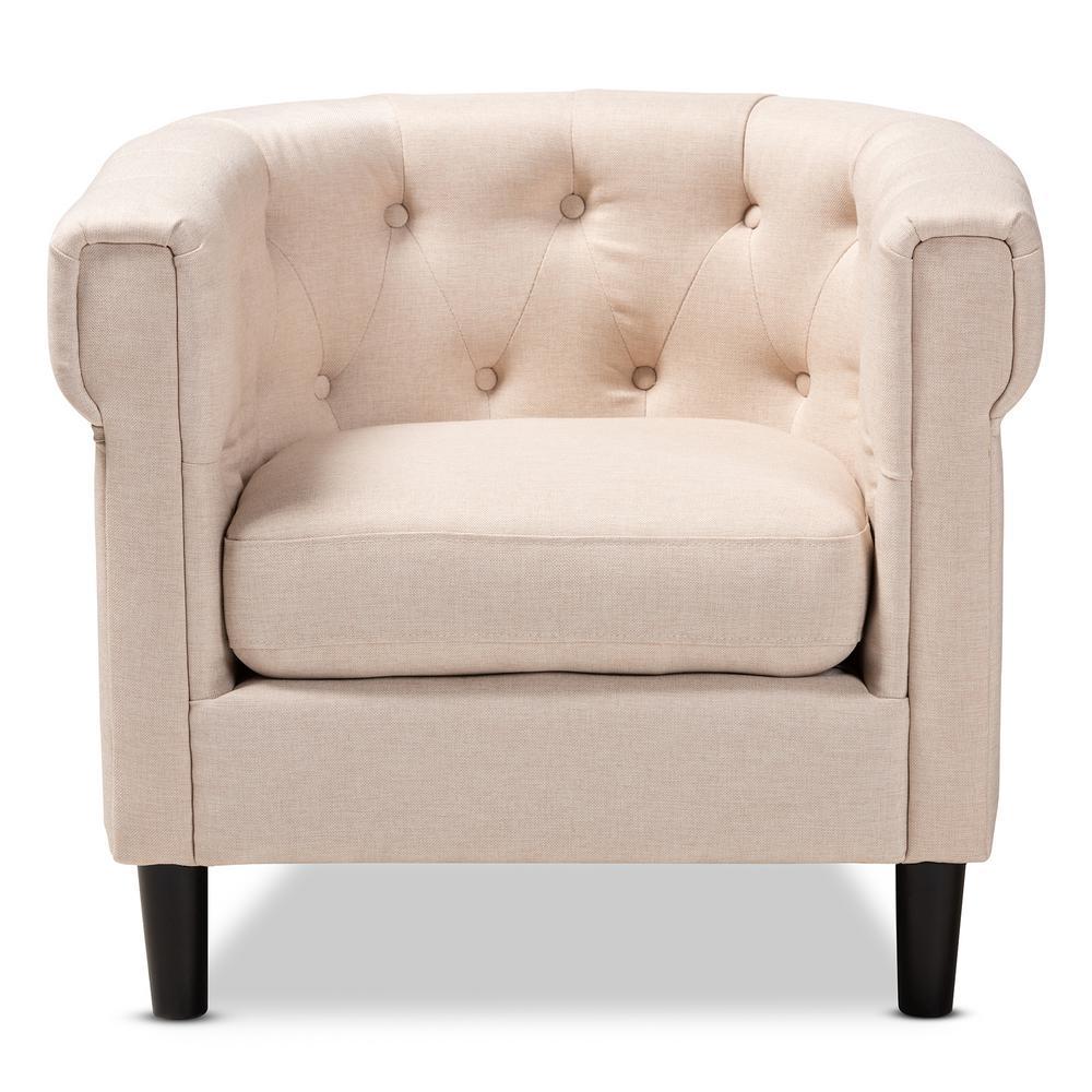 Bisset Beige Fabric Accent Chair