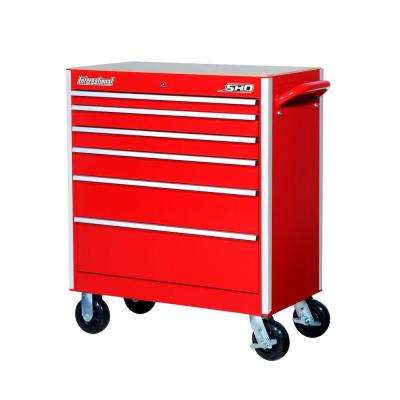 SHD Series 35 in. 6-Drawer Cabinet, Red