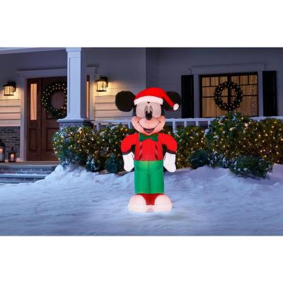 3.5 ft. Inflatable Mickey Mouse in Holiday Outfit