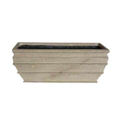 20 in. x 8 in. Limestone Simple Recta Planter
