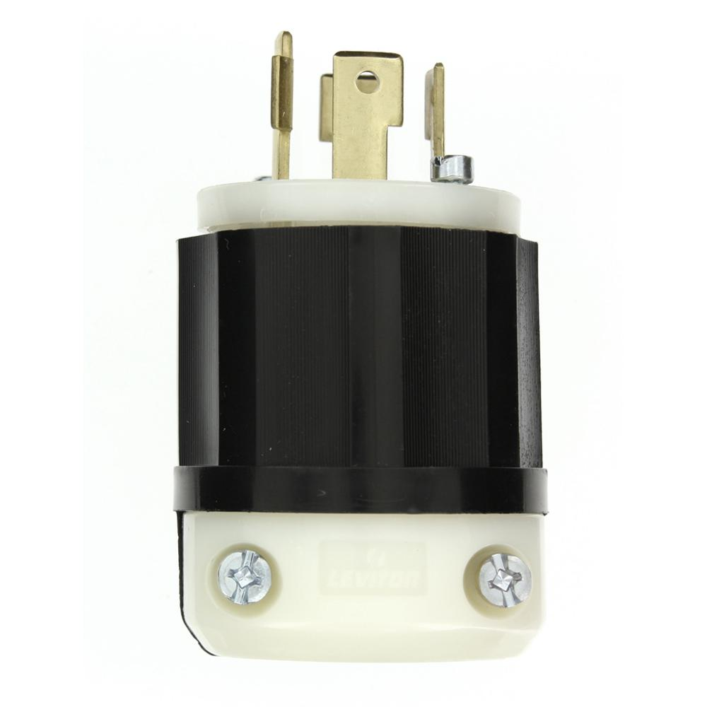 Leviton 30 Amp 600 Volt 3 Phase Locking Grounding Plug Black White Wiring Plugs