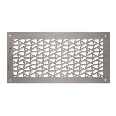 Frank Lloyd Wright Collection DeRhodes Facets Grille 6 in. x 14 in. Aluminum  Brushed Satin