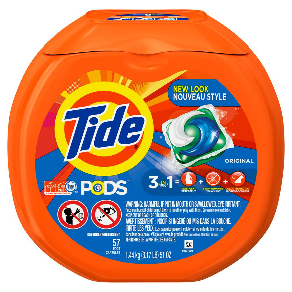 Tide Pods Original Scent Unit Dose Laundry Detergent (57-Count)-003700000935 - The Home Depot