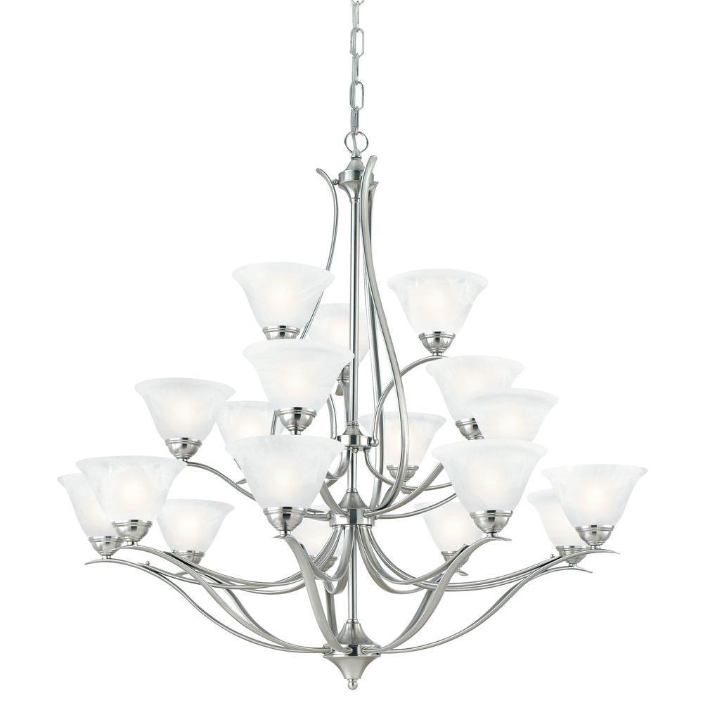 Thomas Lighting Prestige 18-Light Hanging Brushed Nickel Chandelier-DISCONTINUED