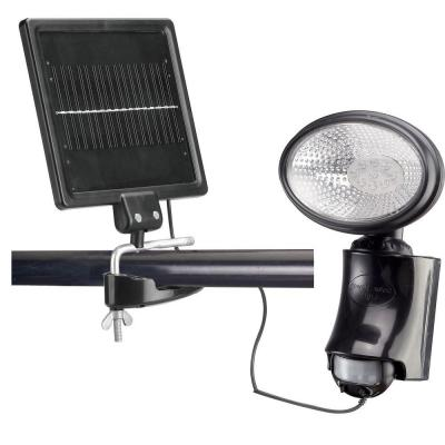 Solar 180-Degree Adjustable Black Motion Activated Outdoor Integrated LED Security Flood Light