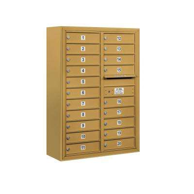 3800 Horizontal Series 20-Compartment Surface Mount Mailbox