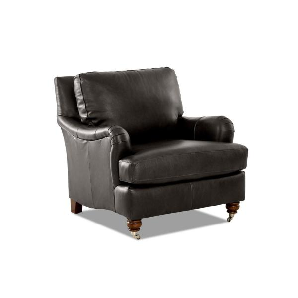 Charlotte Leather Steel Accent Chair