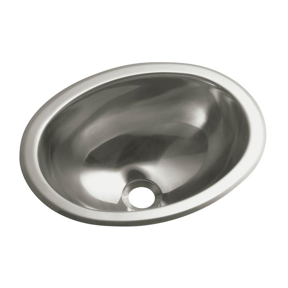 Sterling Drop In Oval Stainless Steal Bathroom Sink Steel