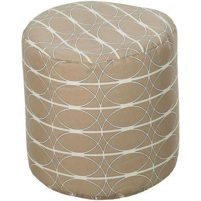 Decarya Accent Pouf in Tan