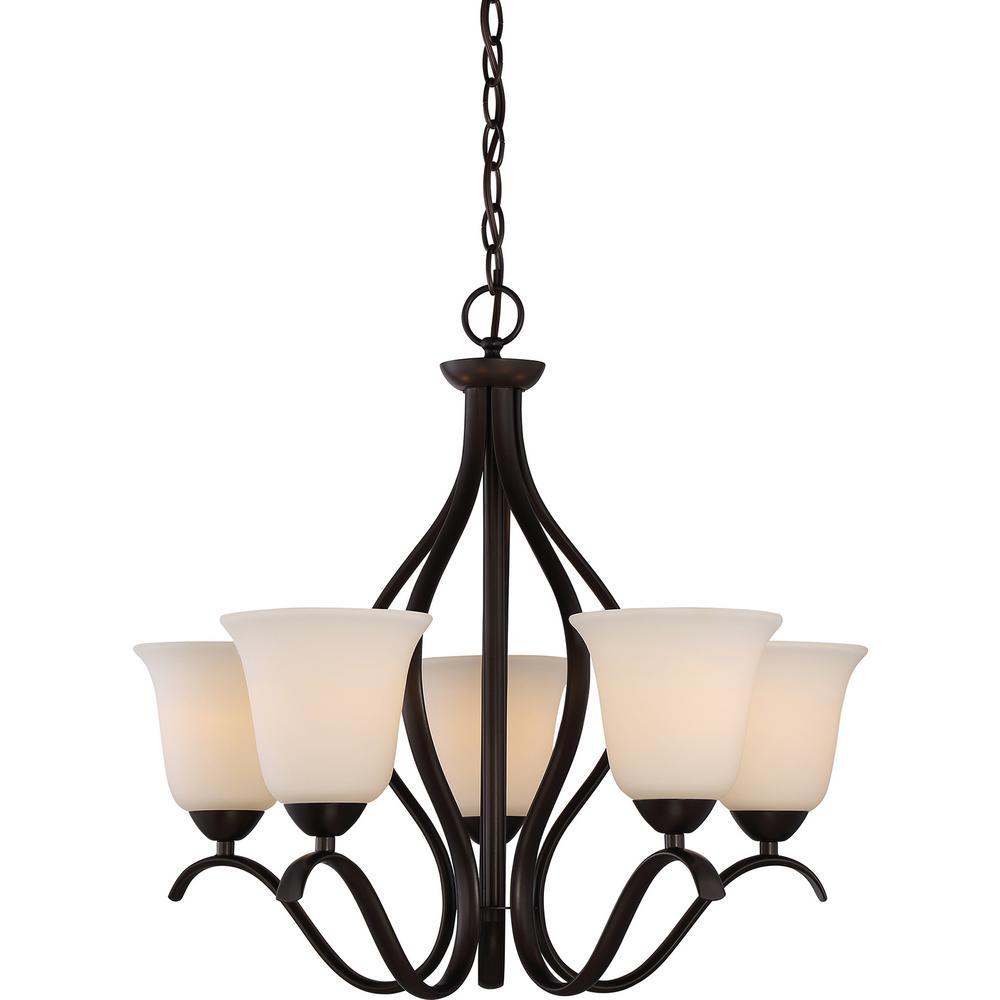 Filament Design 5 Light Forest Bronze Chandelier With