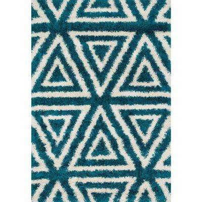 Cosma Lifestyle Collection Blue/Ivory 5 ft. 2 in. x 7 ft. 7 in. Area Rug