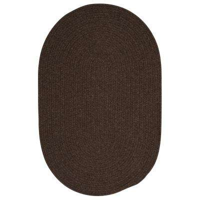 Edward Dark Brown 5 ft. x 8 ft. Braided Area Rug