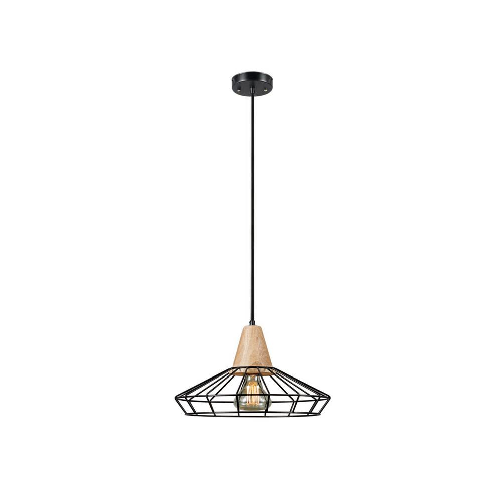 Pendant Drop Tips For Incorporating Pendant Lights Into A: Globe Electric Loras 1-Light Black Caged Pendant-65492
