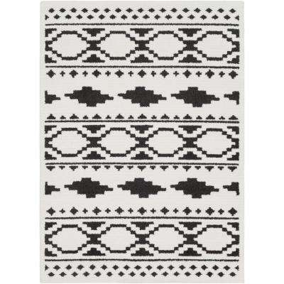 Sulaiman Black/White 8 ft. x 10 ft. Area Rug