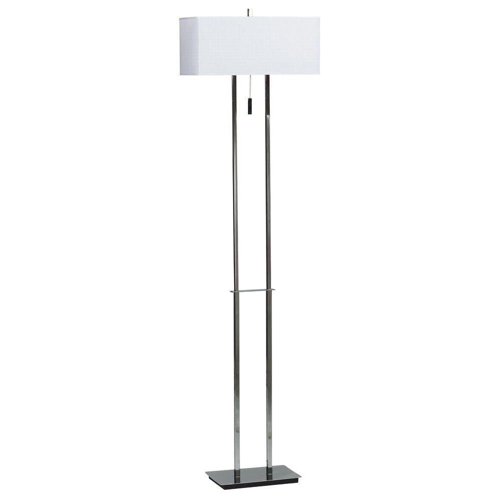 Kenroy Home Emilio 60 In. Chrome Floor Lamp