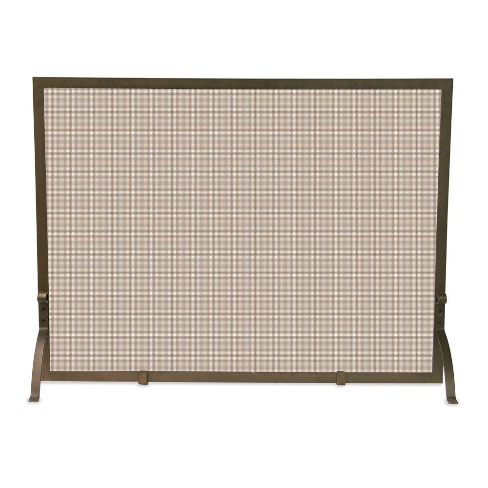 Visit The Home Depot to buy UniFlame Single-Panel Bronze Finish Fireplace Screen S-1642