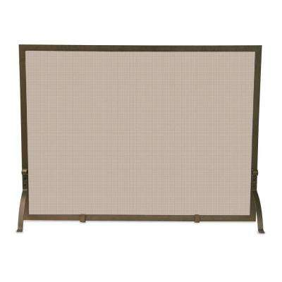Bronze Single-Panel Fireplace Screen